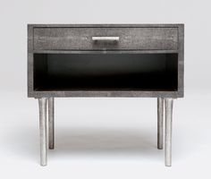 I am totally in love with these faux shagreen nightstands from Made Goods. Plus a bunch of other stuff over there!