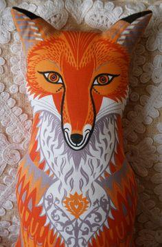 Felix the Fox Tea Towel / Cloth Kit - A silkscreen design by Sarah Young.  via Etsy.