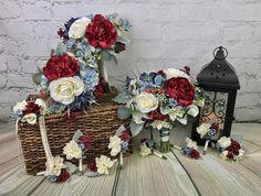 Wedding Bouquet, Bridal Bouquet, Burgundy Bouquet, Blue Bouquet, White Bouquet, Red Bouquet, Artificial Bouquet, Silk Bouquet