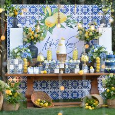 Italian Party, Italian Theme, Baby Shower Themes, Baby Shower Decorations, Wedding Decorations, Italy Party Theme, Lemon Party, Wedding Favors For Guests, Yellow Wedding