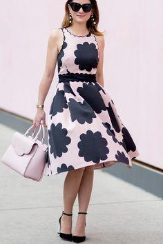 kate spade new york pink petal stamp dress by @jennifer_lake