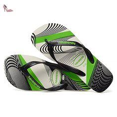 Havaianas Aero Graphic Flip Flops - Black / Steel Grey UK 1011 - Chaussures havaianas (*Partner-Link)