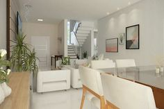 Home Design Plan Meters - Home Ideassearch Wallpaper Interior Design, Home, House Front Design, Interior, Home Design Plan, Home Design Plans, Trending Decor, White Dining Room, Contemporary Interior Design