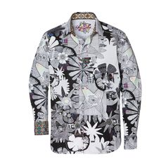 e52d10dc The Robert Graham Super Nova Sport Shirt from the Holiday 2011 collection  features a fantasy print with vibrant accent colors, full color diamond  space-dyed ...