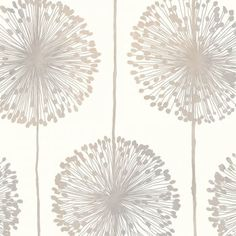 Muriva Dandelion Floral Wallpaper Cream / Grey / Gold