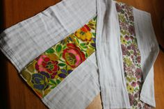 burp rags, easy and adorable and great for baby shower gifts!