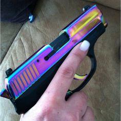 My off-duty weapon! Sig Sauer P239 Rainbow :)