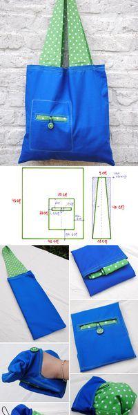 How To Make A Reusable Shopping Bag Tutorial  http://www.free-tutorial.net/2016/12/reusable-shopping-bag.html