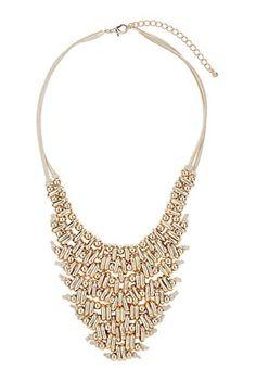 Metal V Collar Necklace