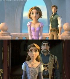 Tangled. Awwww, love how Eugene is standing off in the back there. And Rapunzel's face!!!! Almost indescribable.