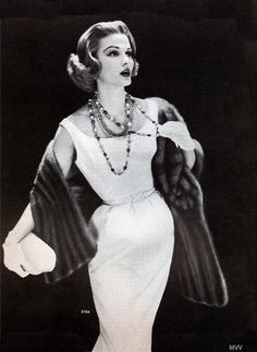 1957 mink stole and fabulous jewels!