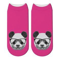 New Printed Panda Cartoon Socks Woomen Character Giant Panda Pattern Unisex Ankle Socks Funny Japanese Kawaii Short Socks Japanese Funny, Short Socks, Funny Socks, Striped Socks, Ankle Socks, Panda, Kawaii, Cartoon, 3d