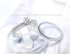 #GetSweetHJ on Artfire    #ring                     #Cubic #Zirconia #setting #tiny #Flower #Ring #rhinestone #ring #band         Cubic Zirconia setting tiny Flower Ring and rhinestone ring band Set                                    http://www.seapai.com/product.aspx?PID=1192051