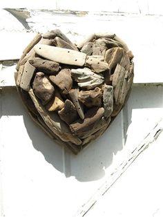 Wooden Driftwood Heart