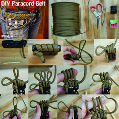 Quick And Easy Step By Step Paracord Belt Tutorial | How To Make Awesome DIY Projects With Paracord By DIY Ready. http://diyready.com/how-to-make-a-paracord-belt/