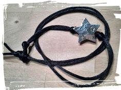 Armband....Seidenband mit Silberstern.....Mo