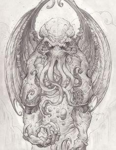 Cthulhu - God Of Cosmic Horror by *CreepySeb on deviantART