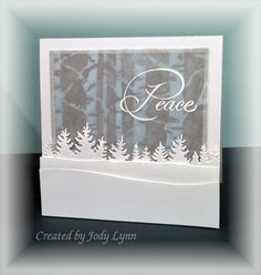 Peaceful Winter Trees by jodylb - Cards and Paper Crafts at Splitcoaststampers