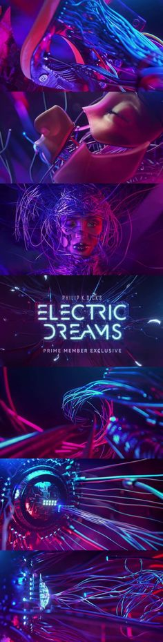 Amazon-Prime---Electric-Dreams title design, Main Title Design, motiondesign, motion graphics, Motion, Design, Style Frames