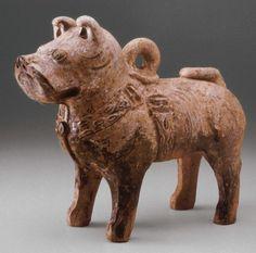 Mastiff tomb figure earthenware, Eastern Han Dynasty, Art Institute of Chicago.
