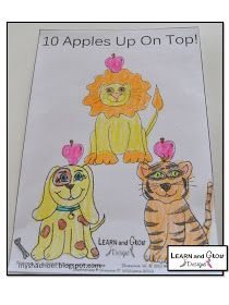 Learn and Grow Designs Website: Dr. Seuss's Ten Apples Up on Top Mini Book Craft Freebie