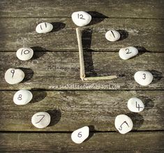 "Love this outdoor clock made with natural materials from Sun Hats & Wellie Boots ("",)"