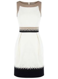 Karen Millen Dresses for Women : Colourblock Dress with Lacing. I would definitely wear something like this to work Casual Dresses, Short Dresses, Fashion Dresses, Dresses For Work, Summer Dresses, Women's Fashion, Dress Skirt, Lace Dress, Dress Up