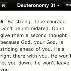 Words of truth <3 Deuteronomy has some of the best verses!
