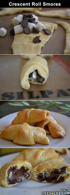 Crescent Roll Smores - #Cooking, #Food, #Smores