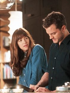 "dakotasteele: "" "" Dakota Johnson and Jamie Dornan in Fifty Shades Darker (x). "" """