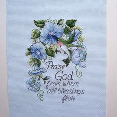 Hummingbird Completed Cross Stitch 5x7 with by threadsandthings1, $30.00