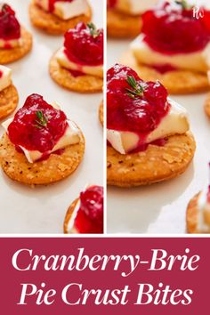 Instead of serving cheese and crackers (again), blow everyone away with these cranberry-brie pie crust bites. Pre-made cranberry sauce and pie-crust speed everything up, so you've got apps to feed a hungry crowd in just 15 minutes. Great Appetizers, Appetizer Recipes, Holiday Appetizers, New Year's Food, Cheese Pies, Baked Brie, Cereal Recipes, Holiday Recipes, Christmas Recipes