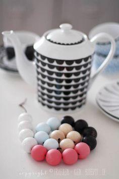 DIY: how to make wood bead coaster