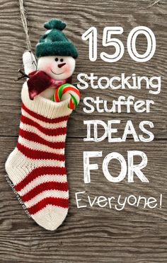 I feel like by the time i buy for stockings I'm all out of gift ideas….glad someone else could do the thinking for me!...150 Stocking Stuffer Ideas for Everyone!
