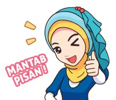 Hijab Kekinian - Stiker LINE | LINE STORE Emoji People, Hijab Drawing, Islamic Cartoon, Crochet Mask, Hijab Cartoon, Line Store, Muslim Girls, Doodles, Logo Design