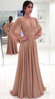 Prom Dresses Long With Sleeves, A Line Prom Dresses, Trendy Dresses, Elegant Dresses, Vintage Dresses, Nice Dresses, Casual Dresses, Dress Prom, Vintage Lace