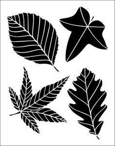 Leaves stencil from The Stencil Library BUDGET STENCILS range. Buy stencils online. Stencil code TP15.