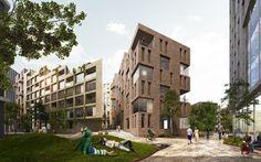 schmidt hammer lassen architects · Hoffsveien Skoeyen Oslo Masterplan