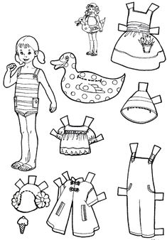 for kids paper dolls to color and cut out kids fun pinterest dolls. Black Bedroom Furniture Sets. Home Design Ideas