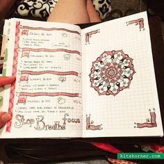 Follow me on Instagram @kitskornerdotcom - Jun 10-13 Daily/Weekly Spread w/ Mandala Journal