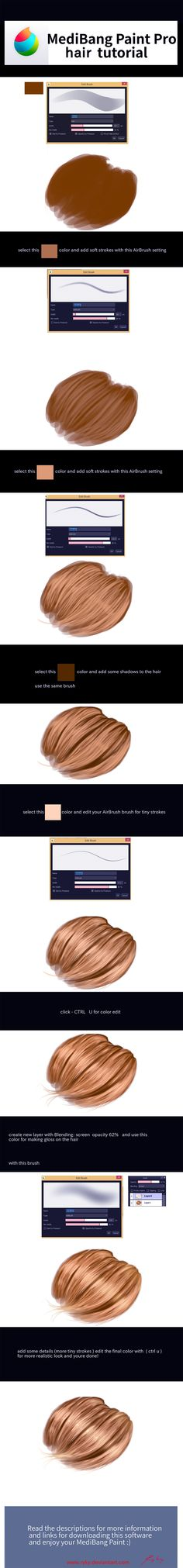 Realistic hair tutorial by ryky.deviantart.com on @DeviantArt