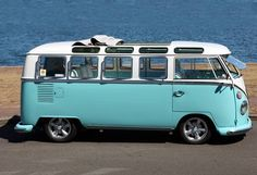 VW Kombi- if i ever have to be the mom that drives a van-this is the kind of van i'll be driving :)