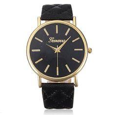 Ularmo Uhr Casual Klassisch Damen Armbanduhr Römisch Lederband Analog Quarz Watch (schwarz) - http://uhr.haus/ularmo/schwarz-ularmo-frauen-csasual-genf-fashion-damen