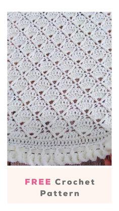 Crochet Baby Blanket Beginner, Baby Girl Crochet Blanket, Crochet Baby Blanket Free Pattern, Crochet Square Patterns, Baby Blankets To Crochet, Baby Afghan Patterns, Crochet Box Stitch, Crochet Stitches Free, Crochet Projects