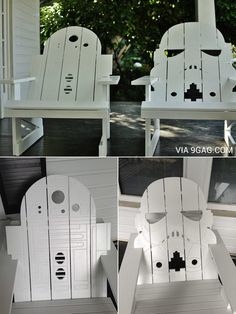 R2-D2 & Stormtrooper Chairs: These are the chairs I'm looking for.