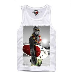 E1SYNDICATE TANK TOP TSHIRT WOOKIE SURF TROOPER STAR WARS DARTH VADER YODA DJ D SXL -- More info could be found at the image url.