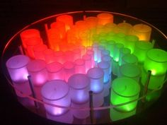 LED table that changes colors