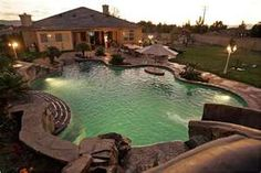 My pool. OK, Abby's pool. Swimming Pool House, Swimming Pool Designs, Outdoor Swimming Pool, Swimming Pools, Indoor Pools, Big Pools, Cool Pools, Awesome Pools, Small Pools