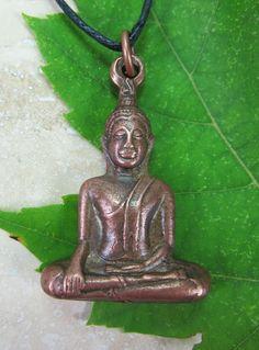 Wrapped Copper Thai Buddha Pendant - Dharmashop.com