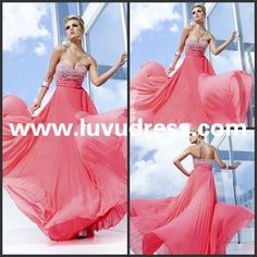 New Style Fashion A-line Chiffon Sweetheart Floor -Length 2014 Prom Dress